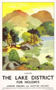 Vintage Rail poster - The Lake District